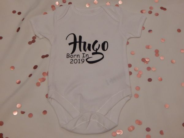 Born In (Year) Personalised Baby Vest